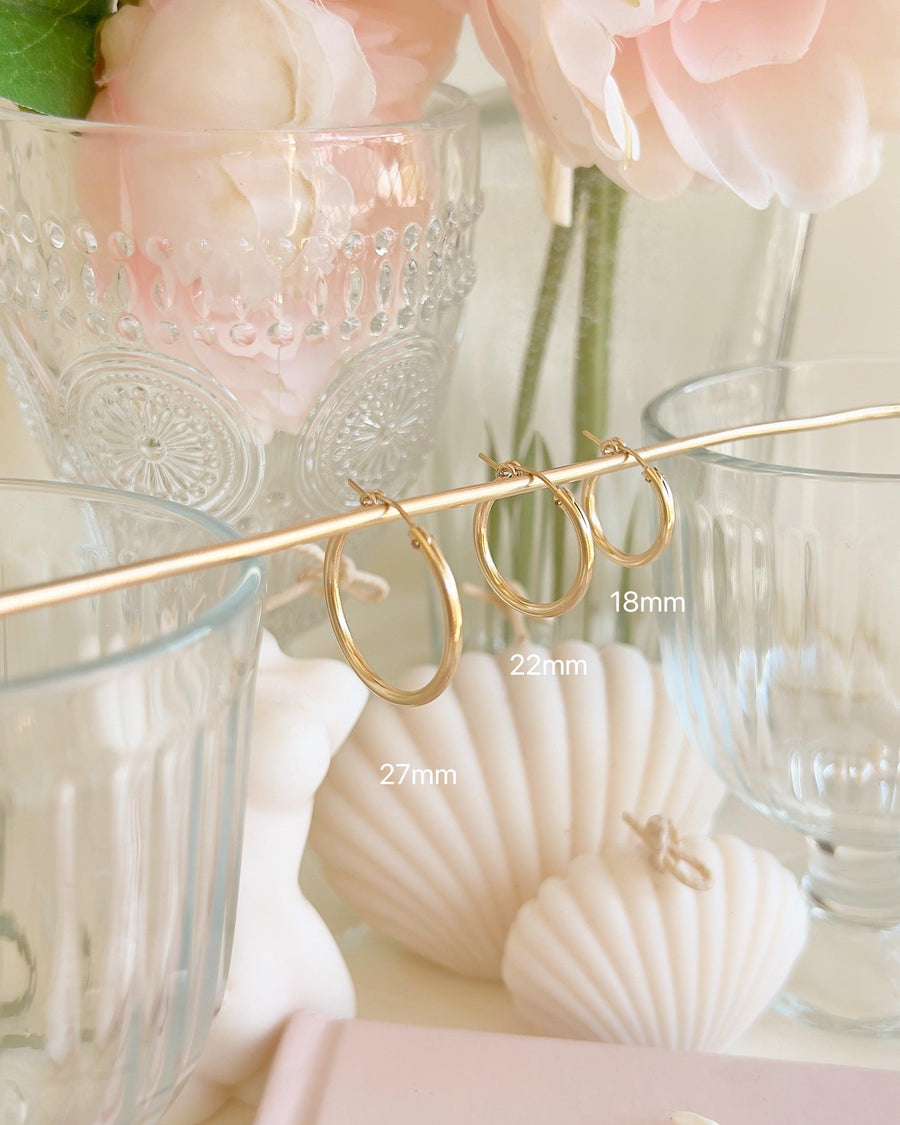 Andy 27mm Classic Hoops - OHZO JEWELLERY BY J