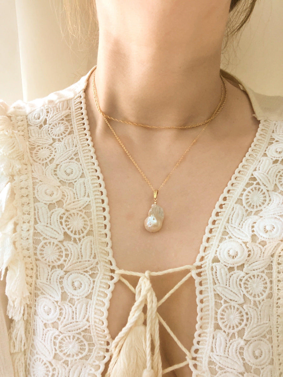 Hallie Baroque Pearl Necklaces - THE OHZO BY J