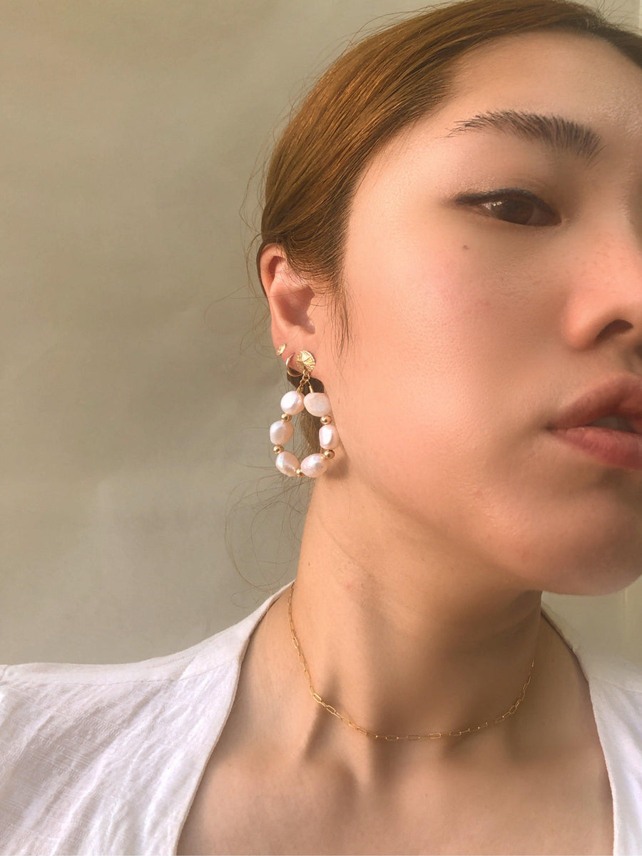 Cecile Pearl Earring - OHZO JEWELLERY BY J