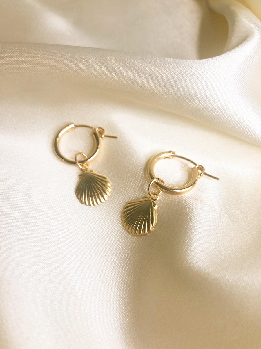 Ariel Clamshell Hoops - OHZO JEWELLERY BY J