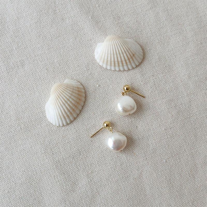 Titany Freshwater Pearl Earring - THE OHZO BY J