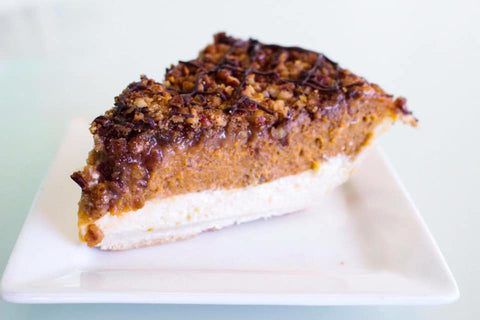 Pumpkin Cheesecake Toffee Pie