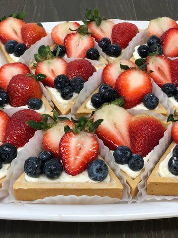 Triangular Fruit Tart