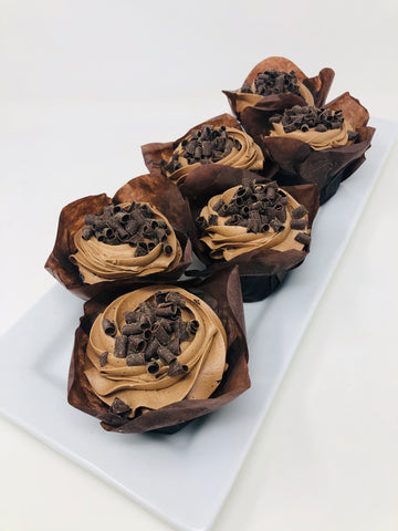 6 Triple Chocolate Cupcakes