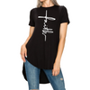 Faith High Low T-Shirt (Black)