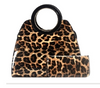 Leopard Print Satchel & Wallet Set (Black)