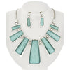 Grace Necklace Set (Turquoise/Silver)