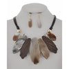 Maya Necklace & Earring Set (Brown)