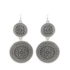 Black and Silver Mixed Drop Earrings - Ariya's Apparel