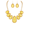 Yellow Teardrop Necklace & Earring Set - Ariya's Apparel