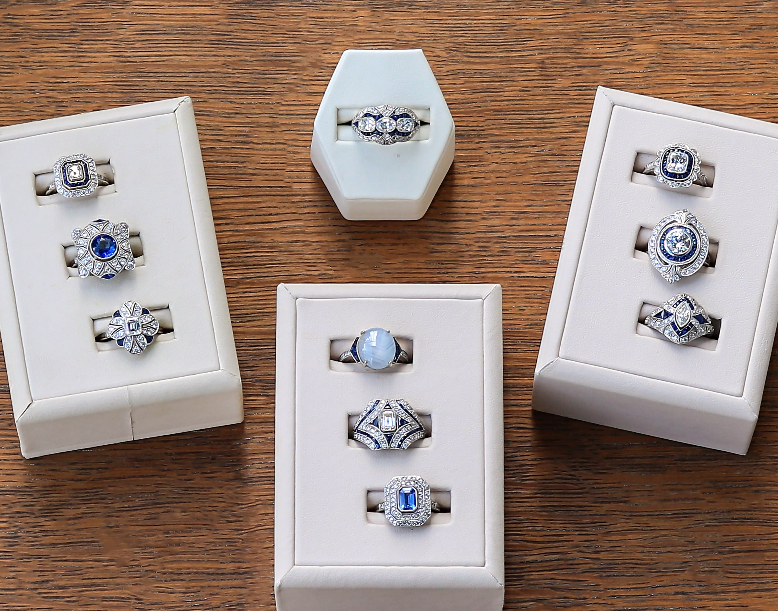 Lineage by Levys, sapphire rings