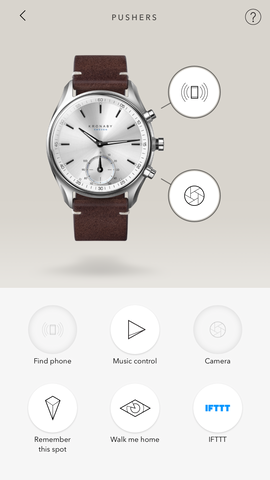 Drag and drop options make it easy to manage the functions controlled by the watch