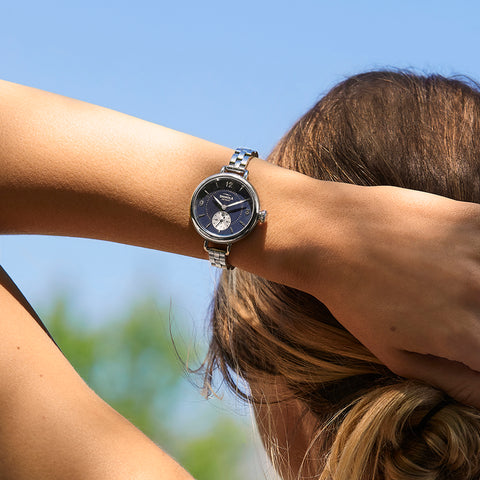 Shinola watch on a woman