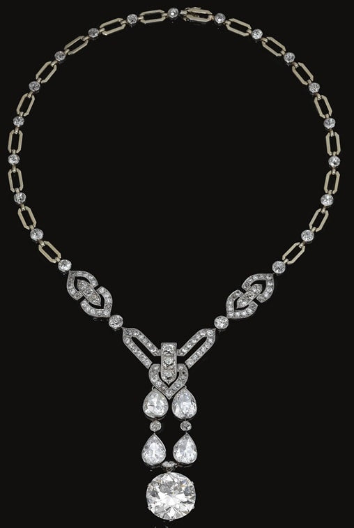 platinum and diamond necklace - 1915