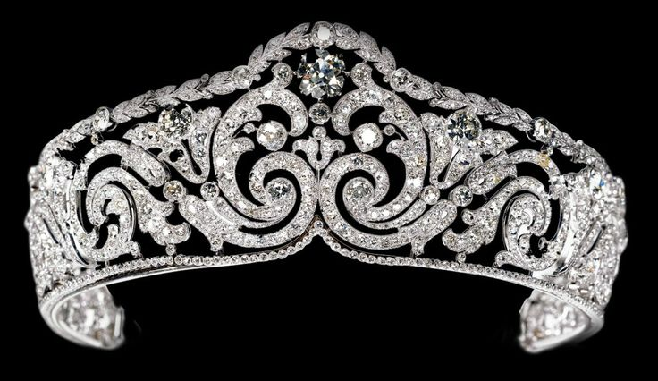 Cartier's scroll tiara, sold to Elisabeth
