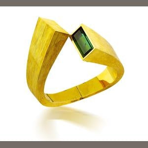 Andrew Grima yellow gold and tourmaline wristwatch, circa 1969