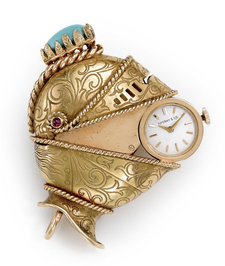 18k yellow gold purse watch collaboration by Tiffany & Co