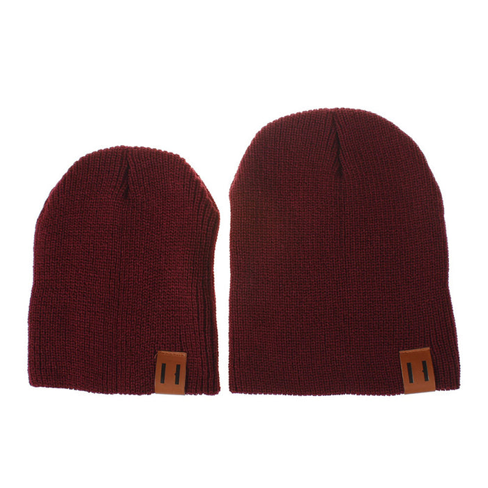 2018 Arrival Cute Kid Babies Beanies Hats Baby Crochet Knit Solid Color Hat  Daddy and Me 26b4f782fb3