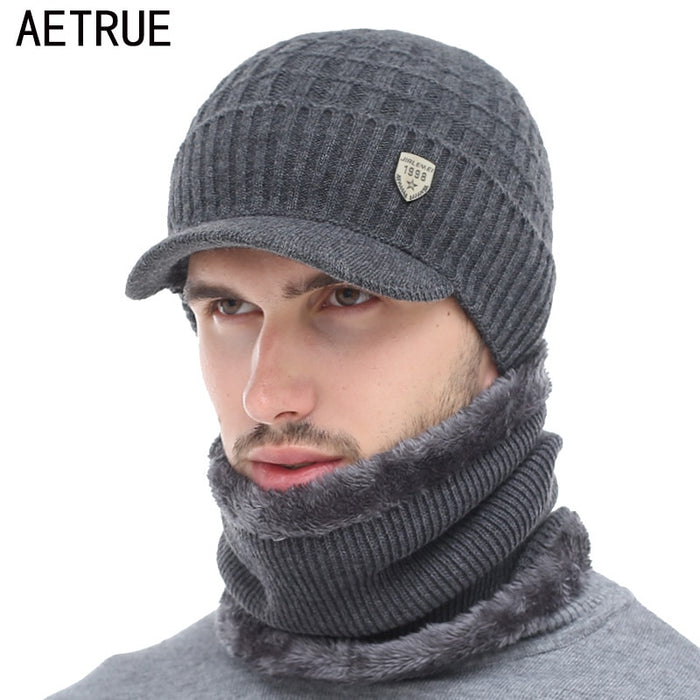 1c22202a038 AETRUE Winter Hat Skullies Beanies Hats Winter Beanies For Men Women Wool  Scarf Caps Balaclava Mask
