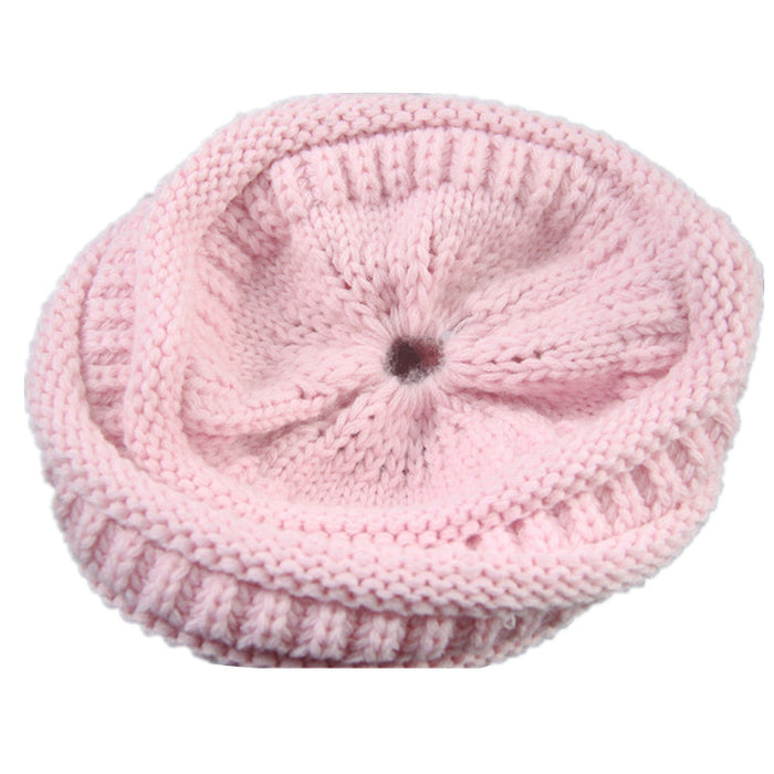 30859f054ad CC Ponytail Beanie Winter Hats For Women Crochet Knit Cap Skullies Beanies  Warm Caps Female Knitted