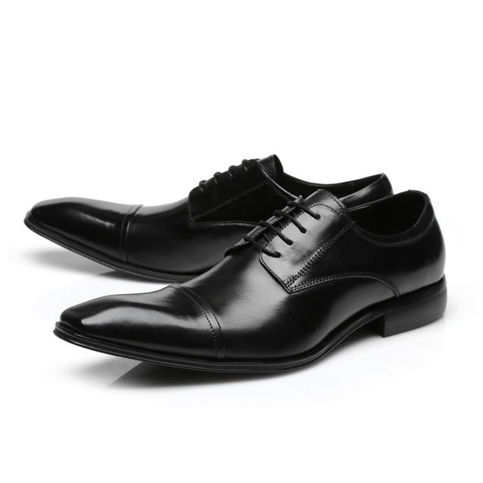 Mabaiwan New Brown Formal Men Dress Wedding Derby Shoes Lace Up