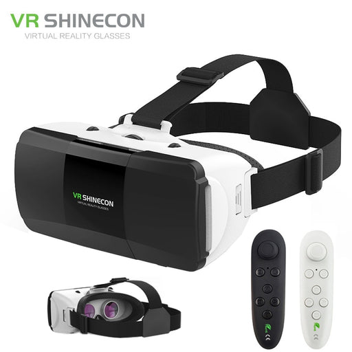 6abe5a0125a2 VR Shinecon Pro Virtual Reality 3D Glasses VR Google Cardboard Headset Box  Glasses Virtual for 4