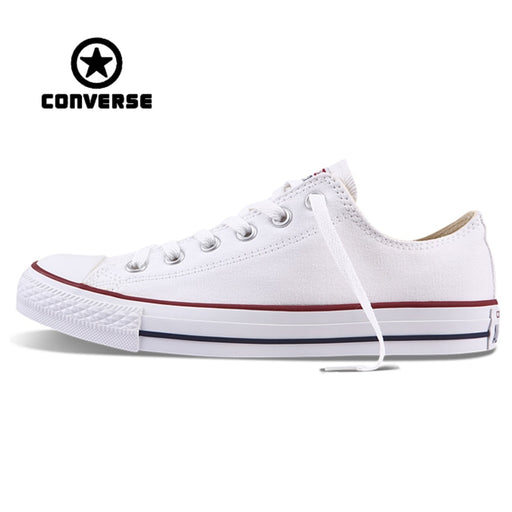 cabd05b481e597 White Converse All Star Sneakers Unisex Low Top Skateboarding Shoes Anti- Slippery Rubber Sneakser Classic