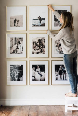 Black and white photo frames
