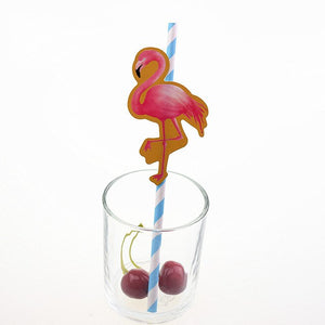 10pcs Pineapple Paper Straws Flamingo