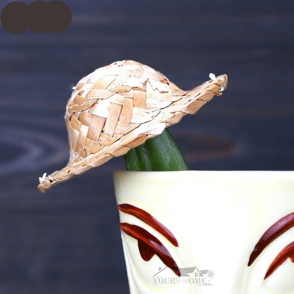Mini Decorative Small Straw Hat For Cocktail
