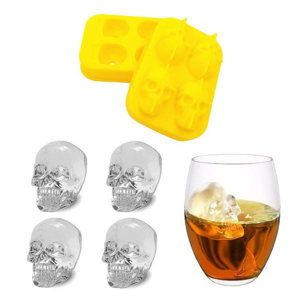 3D Ice Maker Mold Skeleton Skull