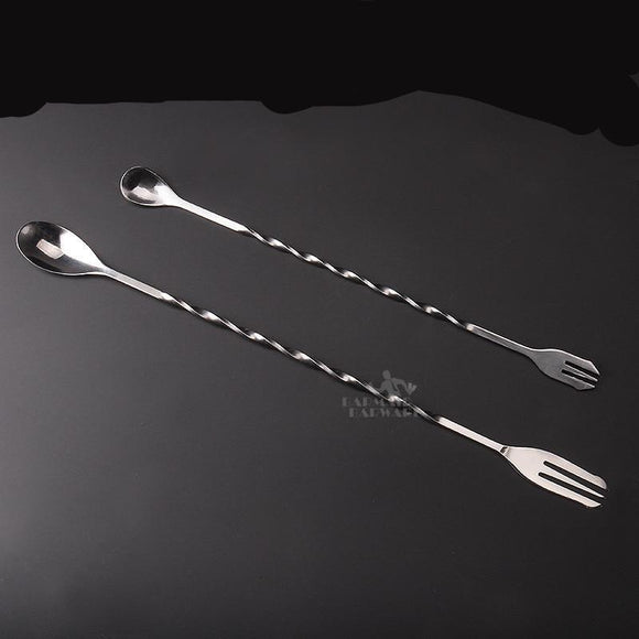 26&32cm Stainless Steel Bar Spoons