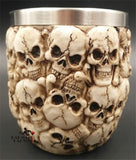 Skull Head Ceramic Tiki Mug Coconut