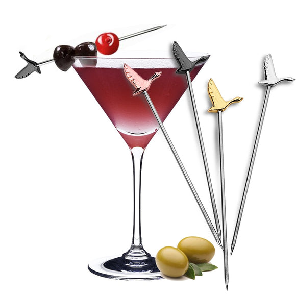 Stainless Steel Cocktail Fruit Needle Sign 4PC/LOT