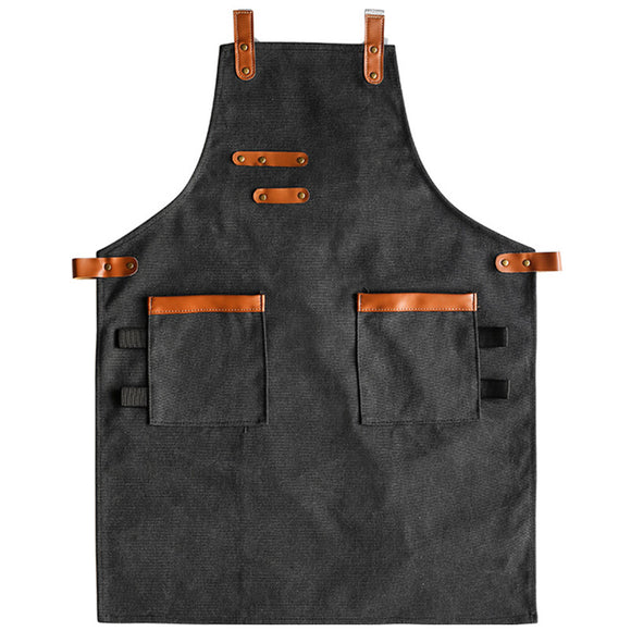 Black Khaki Canvas Apron