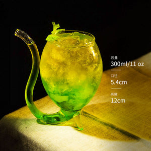 Devil Cocktail Glass Cup with Straw 300ml