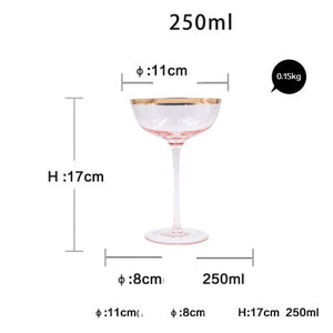 Gold glass wine glass crystal  goblet