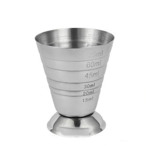Measure Cup Shot Bar Mixed Cocktail Beaker 75ml