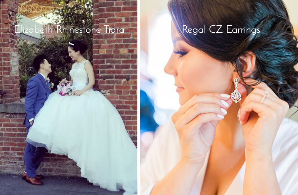 Bridal Tiara and Wedding Earrings
