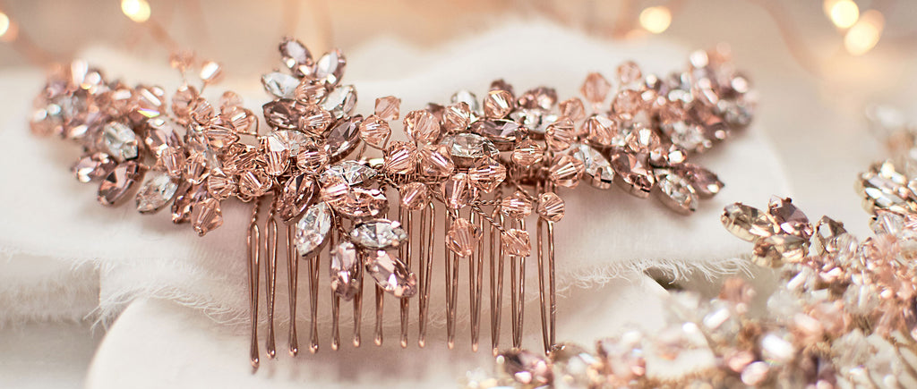 Rose Gold Bridal Comb