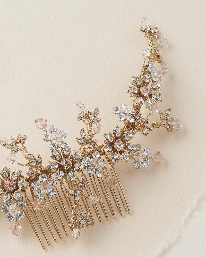 Crystal Rose Gold Comb