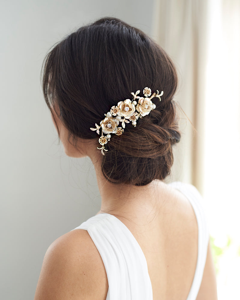 Floral Pearl Hair Piece