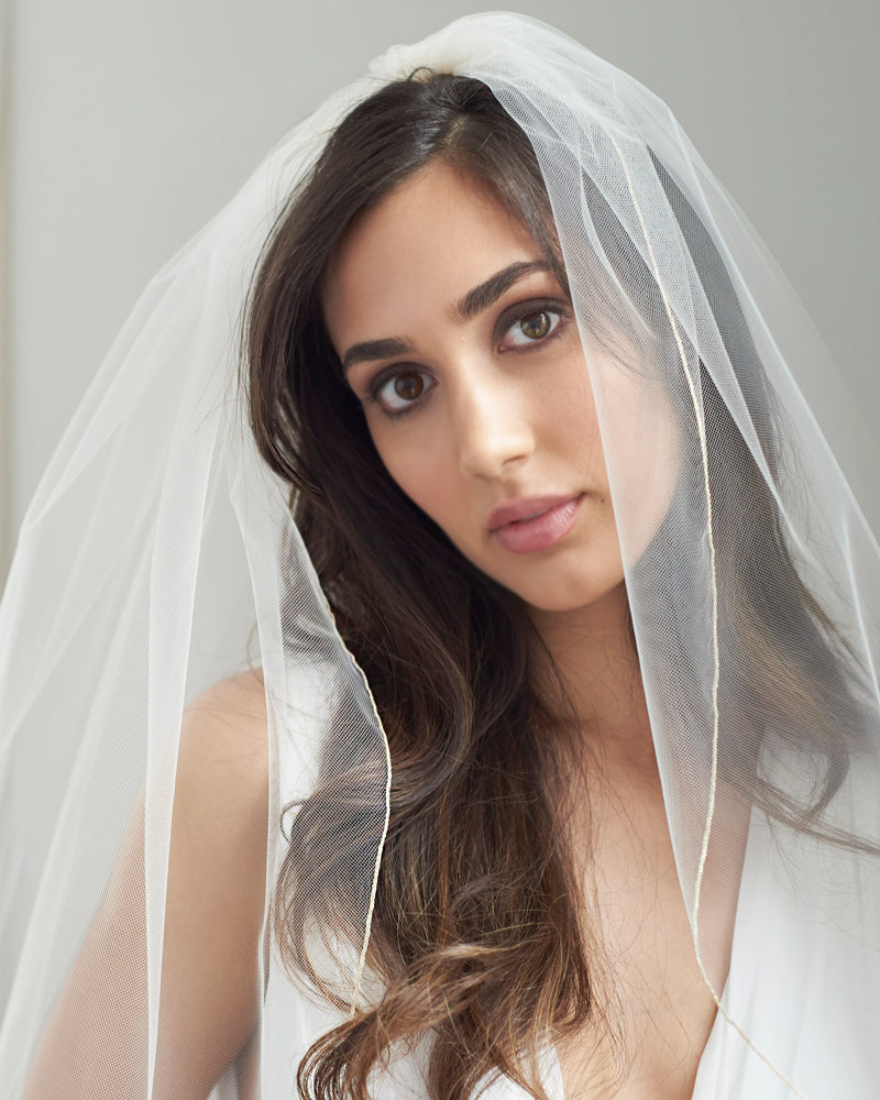 Pencil Edge Bridal Veil