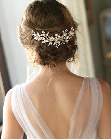 Lily Floral Wedding Comb