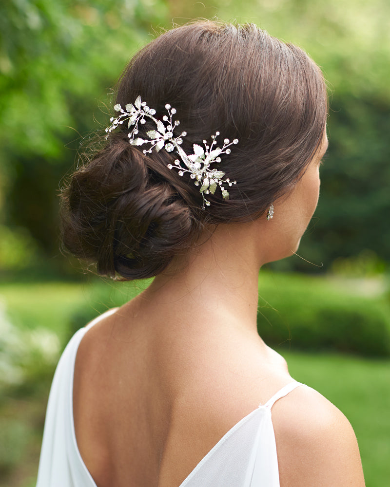 Delicate Floral Comb