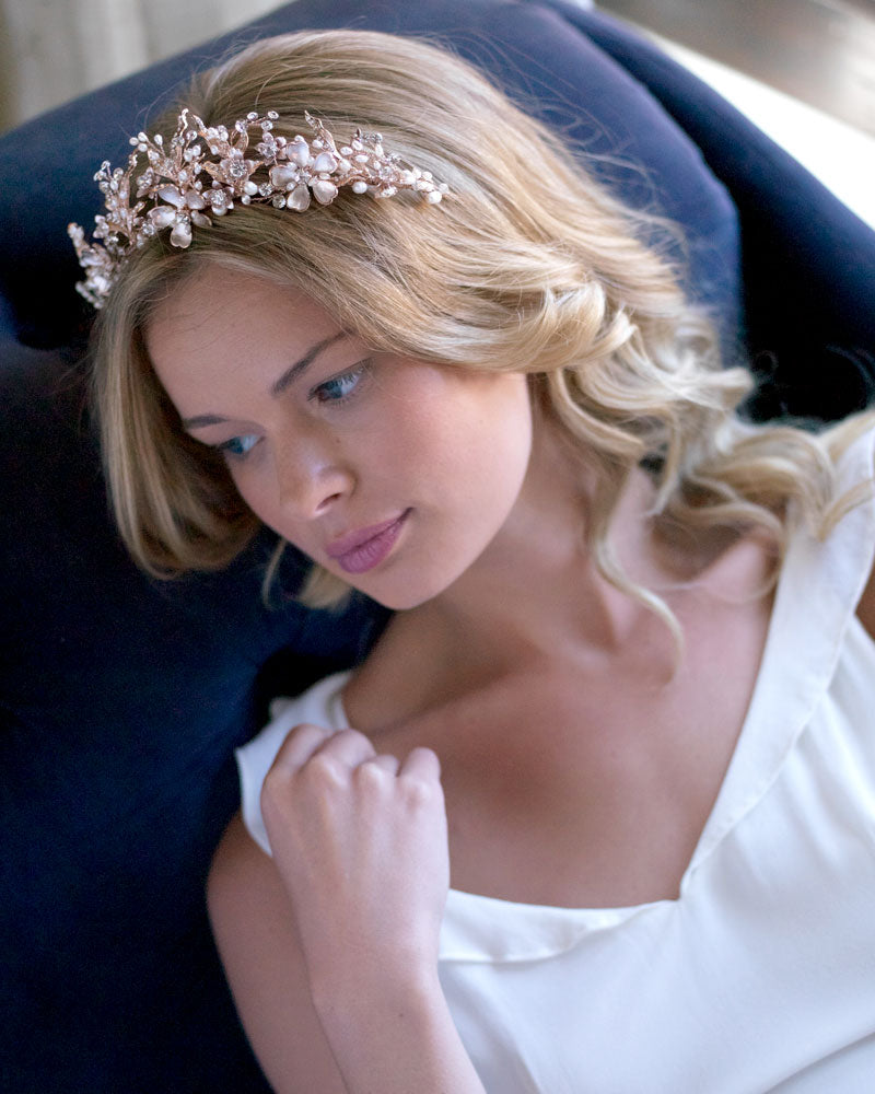 Rose Gold Bridal Headpiece