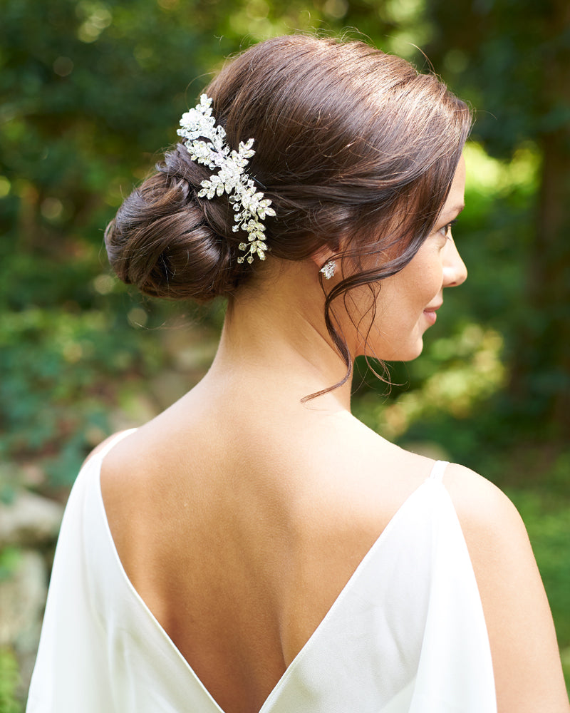 Silver Wedding Hair Headpiece