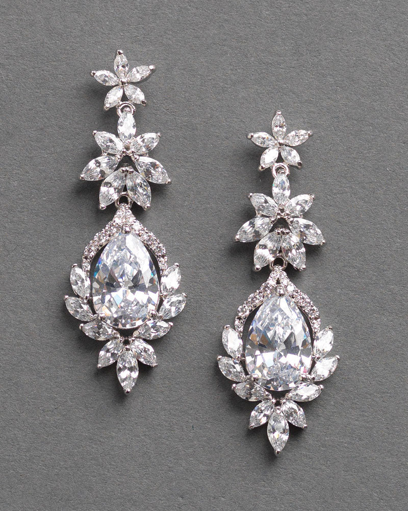CZ Wedding Earrings