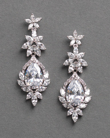 Anastasia Opal & Crystal Earrings