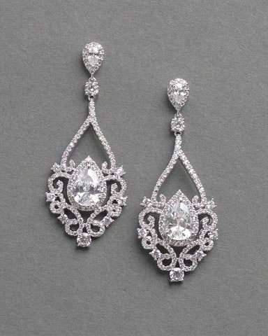 Vivian CZ Dangle Earrings